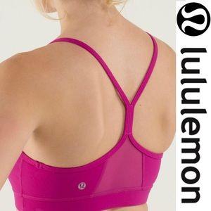 Lululemon Flow Y Sports Bra IV Raspberry size 6